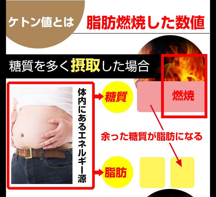 ケトン値とは脂肪燃焼した数値