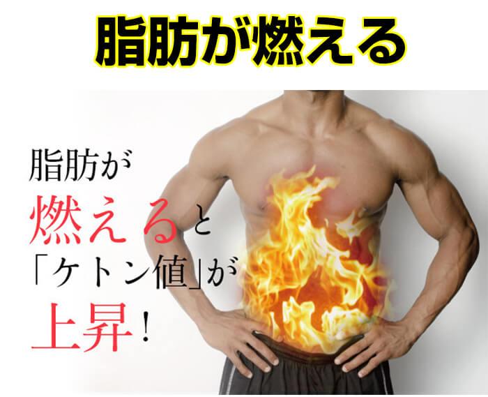 脂肪が燃焼しケトン値上昇